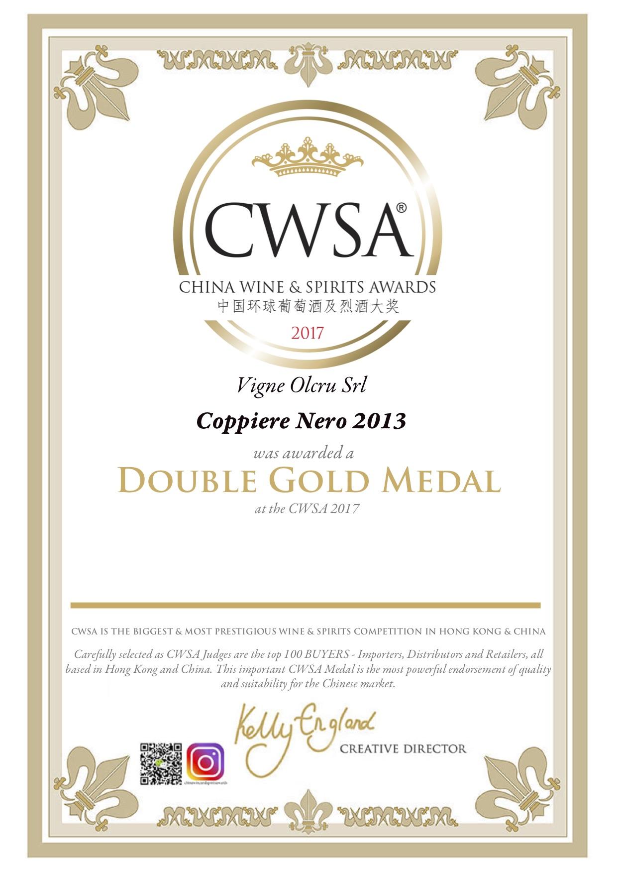 CSWA 2017 – Coppiere 2013