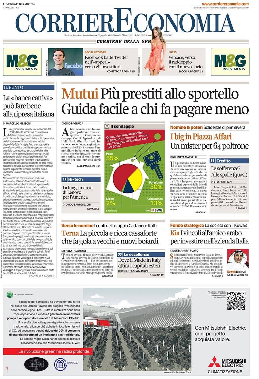 Corriere della Sera 17 Febbraio 2014