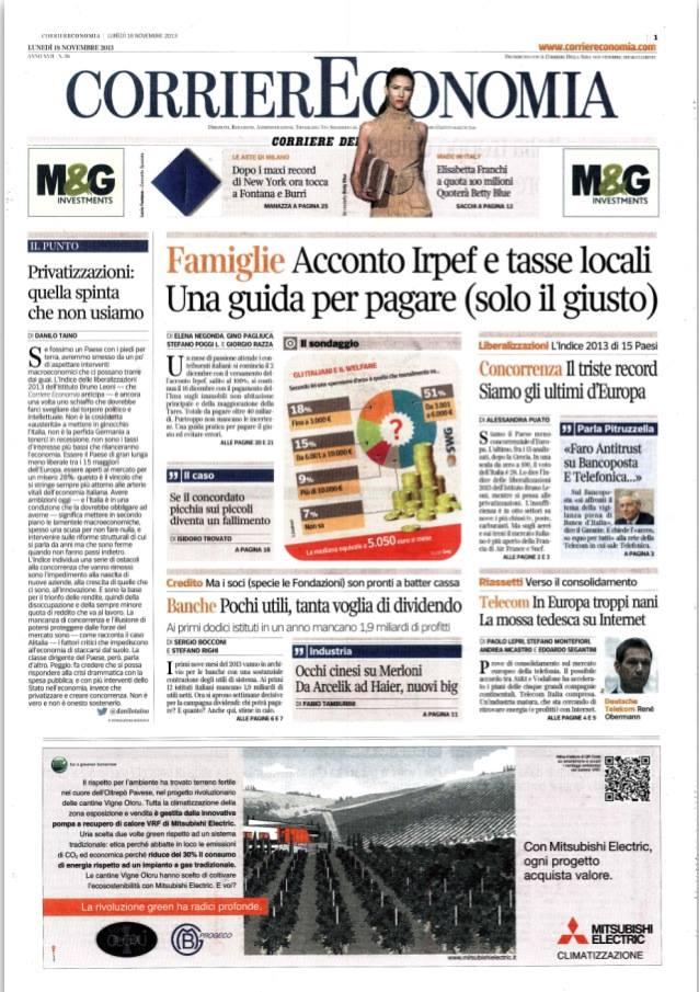 Corriere della Sera 29 Novembre 2013