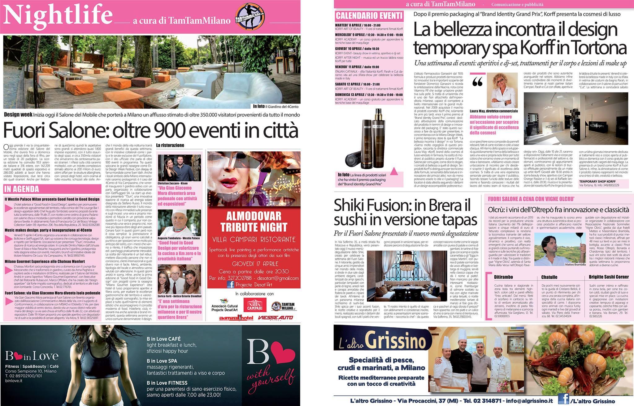 Corriere della Sera 8 Aprile 2014