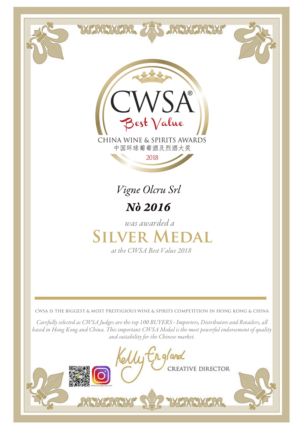 CWSA Best Value 2018 – Nò