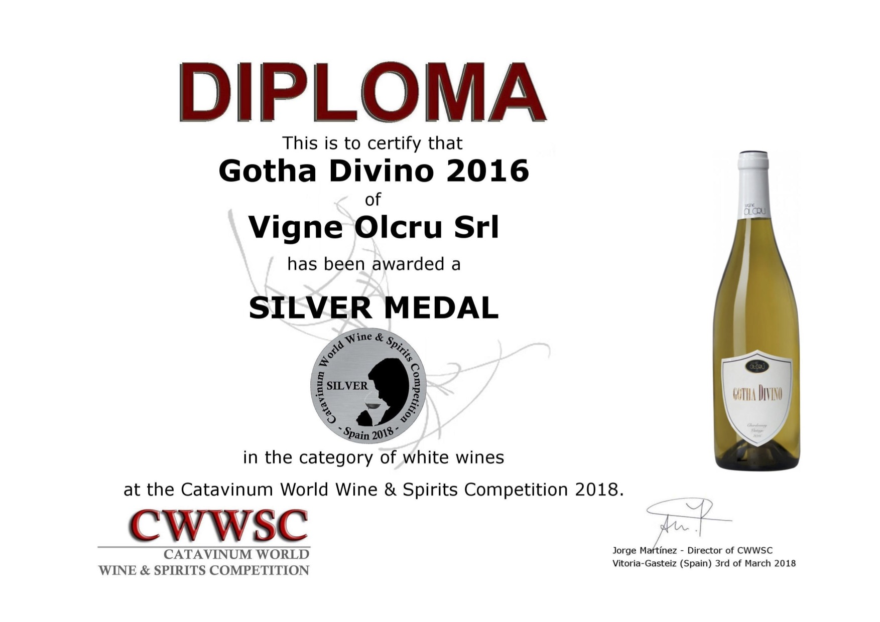 CWWSC 2018 Spagna – Gotha Divino 2016