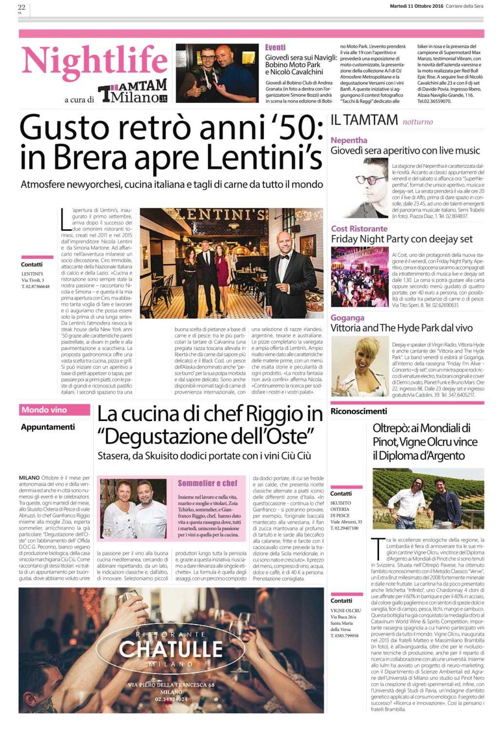 Corriere 11 ottobre 2016