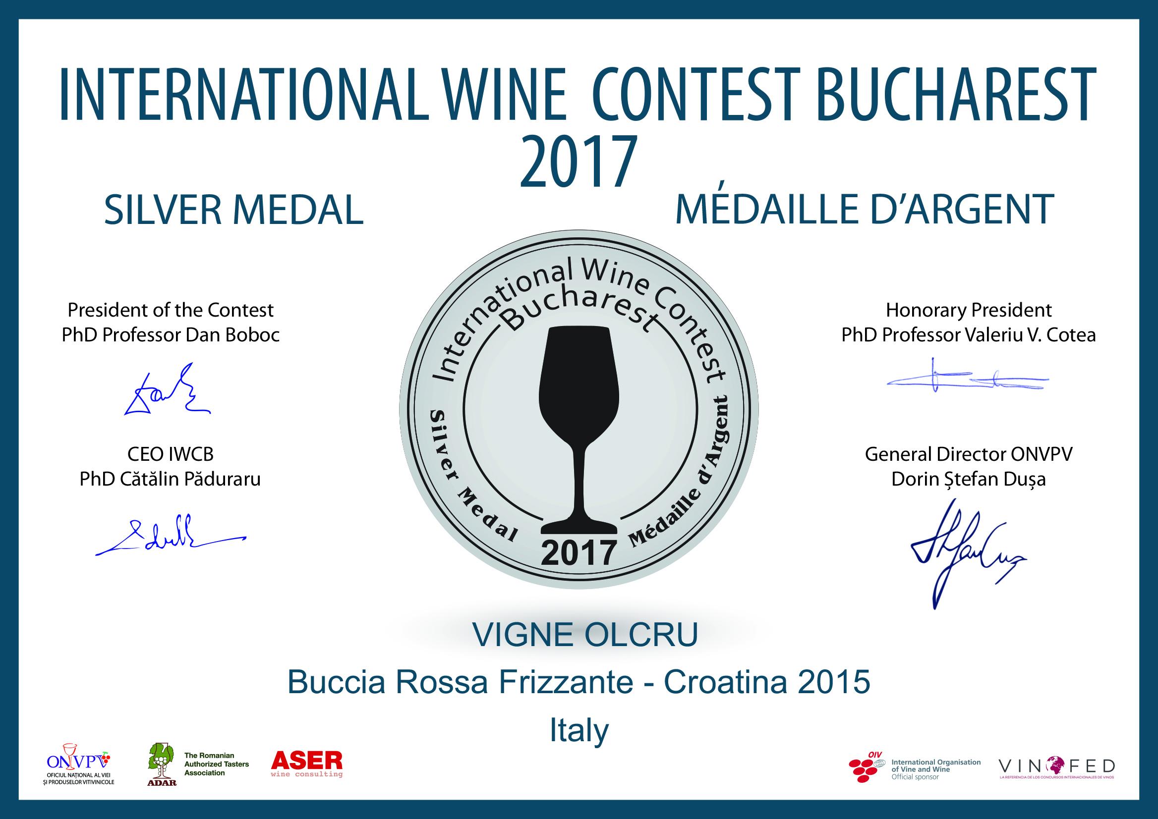 IWCB 2017 – BUCCIA 2015 SILVER