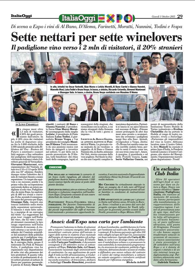 Italia Oggi 29 Settembre 2015