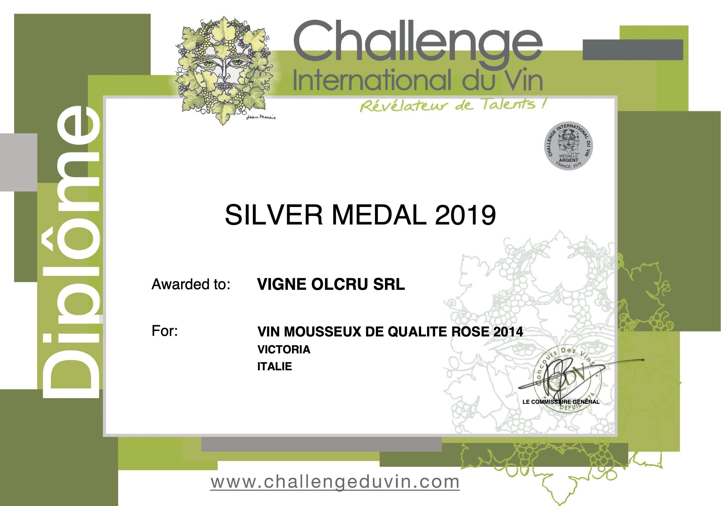 Challenge International Du Vin 2019 – Victoria 2014 – Silver