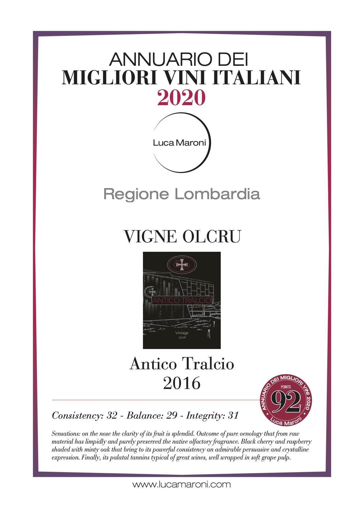 Luca Maroni 2020 – Antico Tralcio 2016 eng