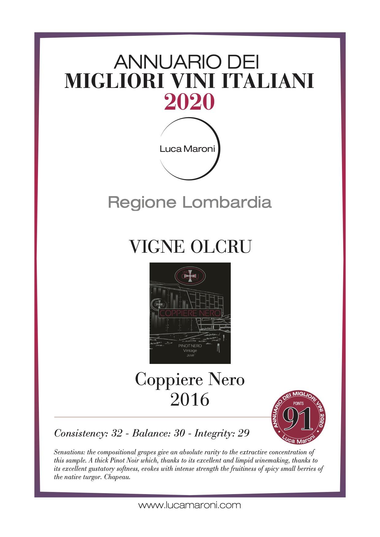 Luca Maroni 2020 – Coppiere Nero 2016 eng