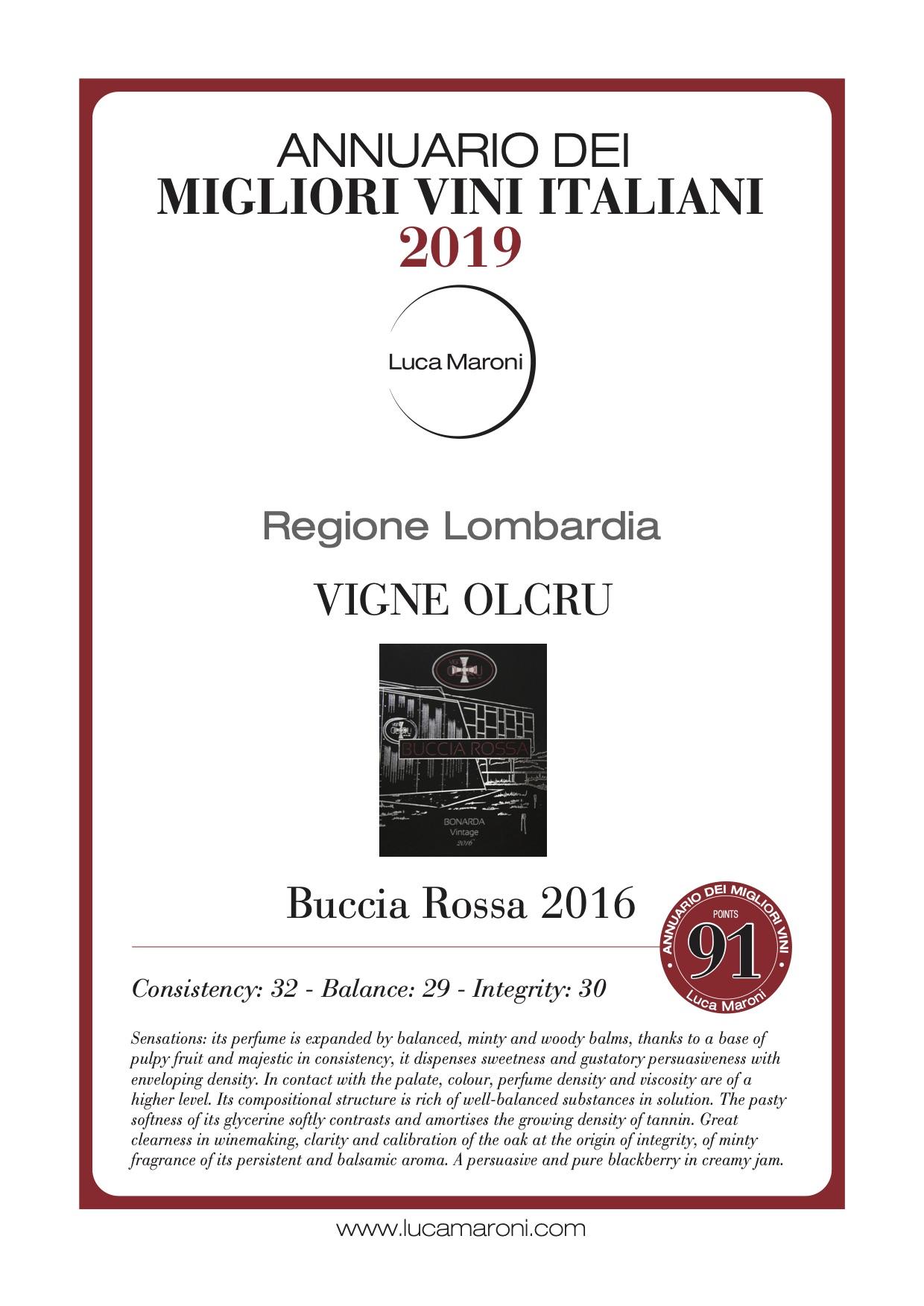 Luca Maroni – Diploma Buccia Rossa 2016 – eng